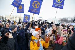 Студенты и абитуриенты ВятГУ отметили Татьянин день массовым флешмобом